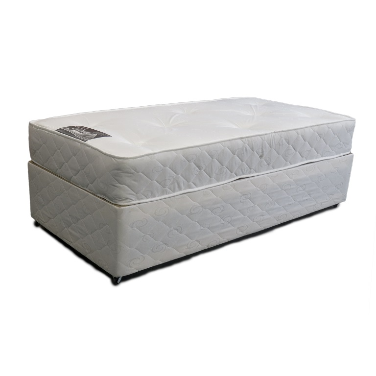 Classic orthopaedic divan bed single allied furniture Divan single beds