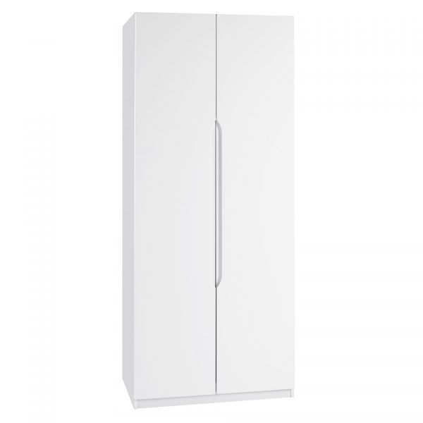 Gloss Double Door Wardrobe – White