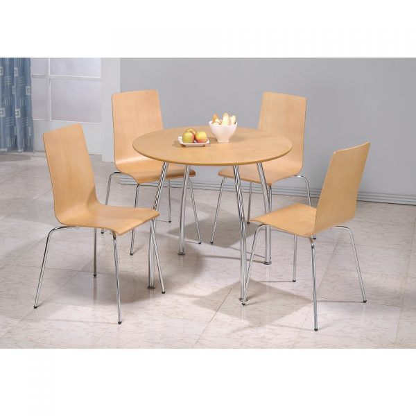 Maple Round Table + 4 Chairs