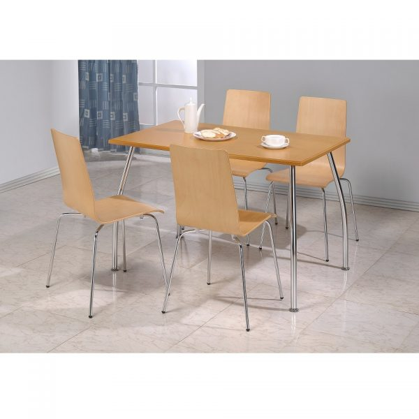 Maple Ttable + 4 Chairs