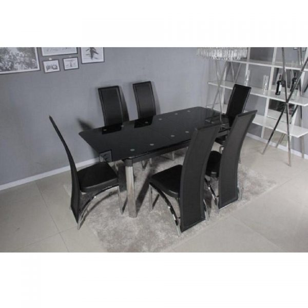 Turin Extendable Table & 6 Chairs
