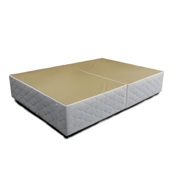 White Quilted Divan Base
