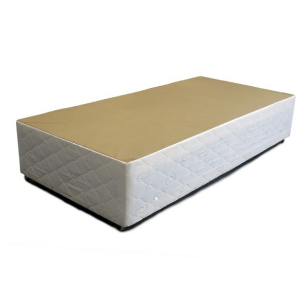 White Quilted Single Divan Base