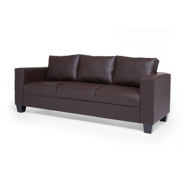 chelsea 3 seater brown