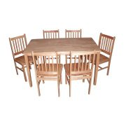 Malay Table + 6 Chairs