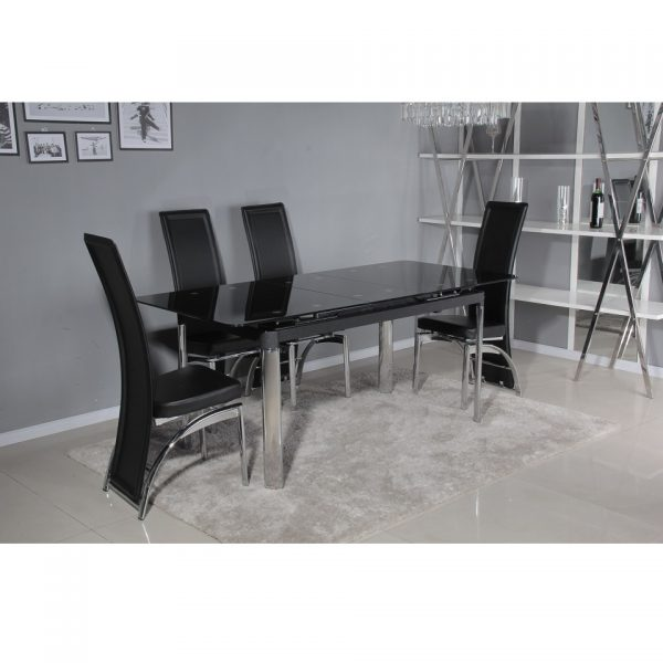 Turin Extendable Table with 4 trieste chairs