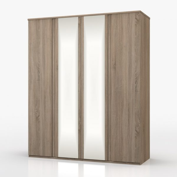 Juliet 4 Door Wardrobe with Mirror