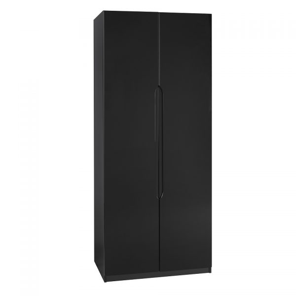 Gloss Double Door Wardrobe – Black