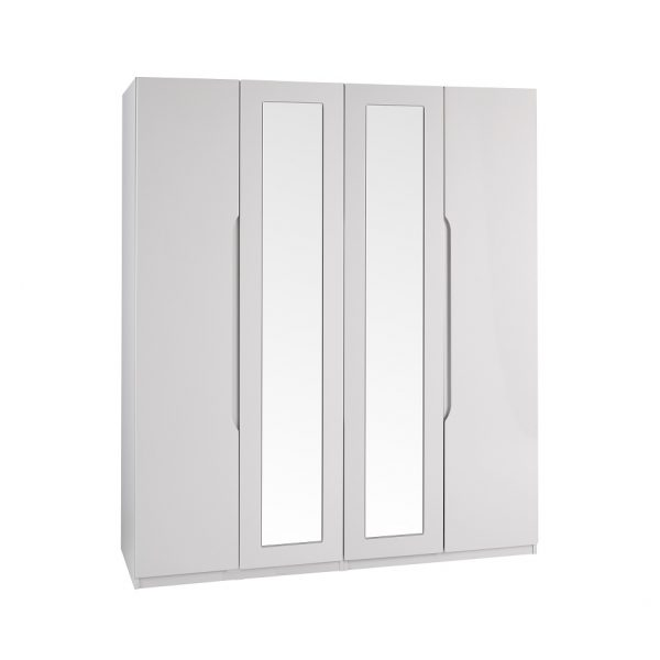 Extra Tall – Gloss 4 Door Wardrobe – Cashmere