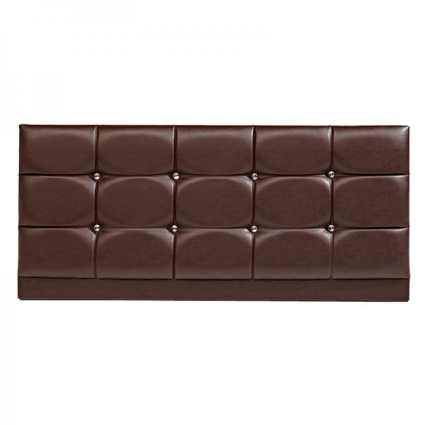 Diamond PU Headboard – Brown