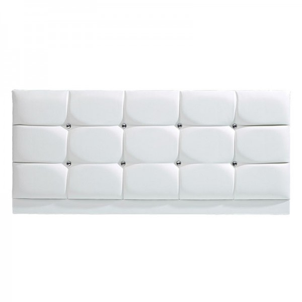 Diamond PU Headboard – White