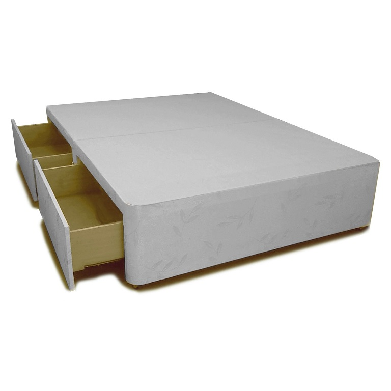 Divan base with 2 drawers king size allied furniture for King size divan bed base with drawers
