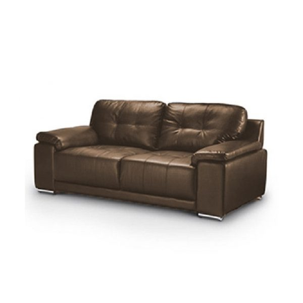 enzo 3 seater brown