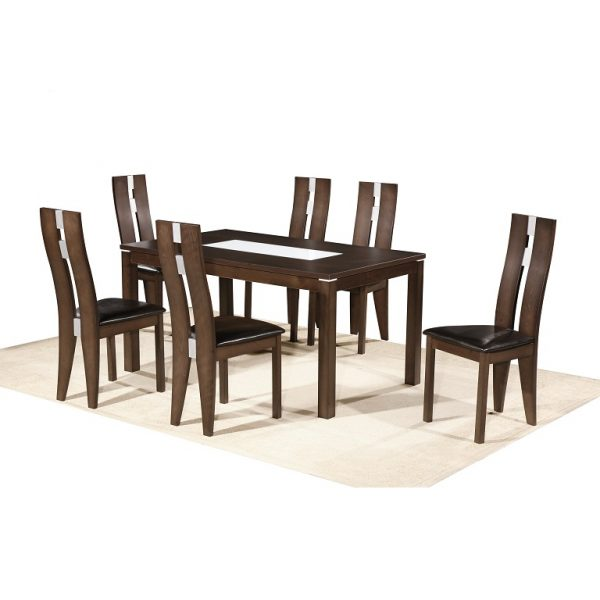 California table + Alaska chairs- burn beech frame +p.u seats