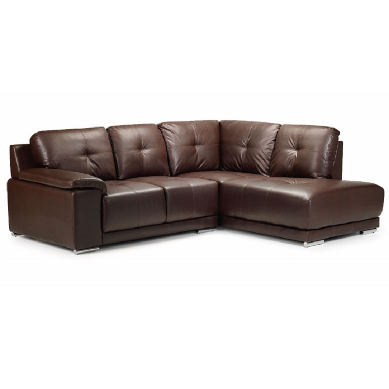 Terrific Havana Leather Corner Sofa Brown Machost Co Dining Chair Design Ideas Machostcouk