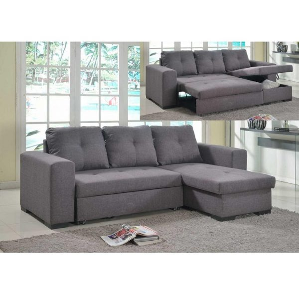 Gianni Fabric Sofa Bed – grey (H)
