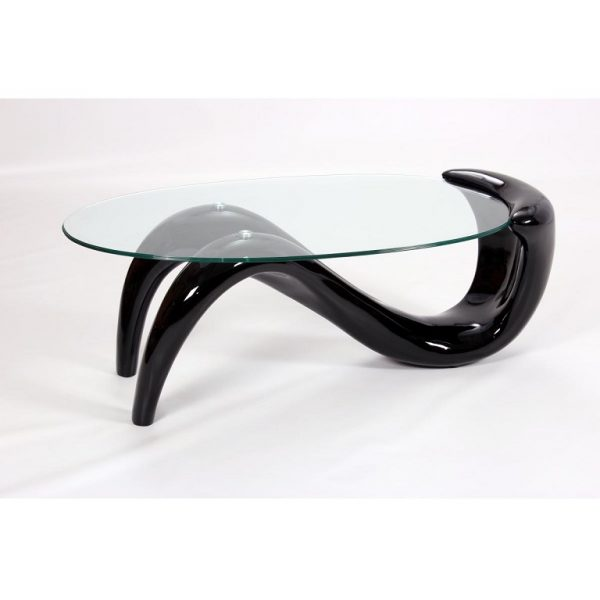 Pike Black Coffee Table (H)